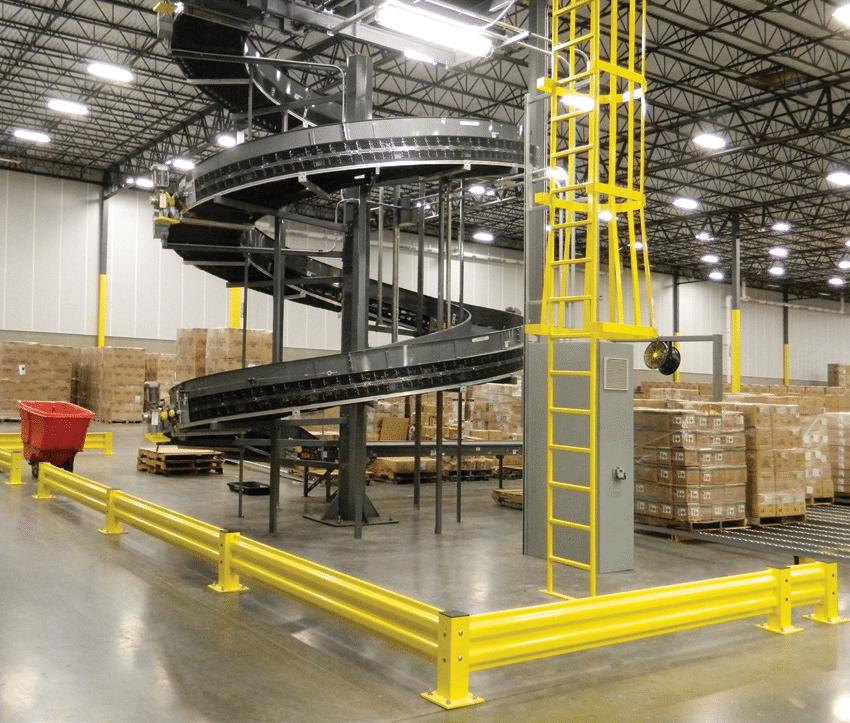 spiral conveyor protection
